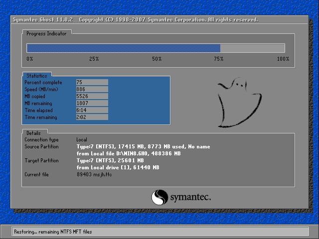 深度技术 Ghost Win8 64位纯净版 v2018.10