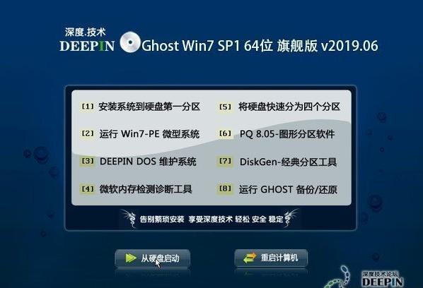 深度技术 Ghost Win7 64位旗舰版 2019.06