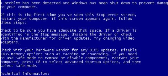 XP开机蓝屏错误代码stop:c000021a unknown hard error如何修复