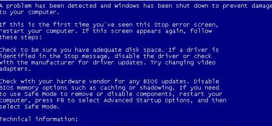 XP系统蓝屏代码0x1000000a如何修复?