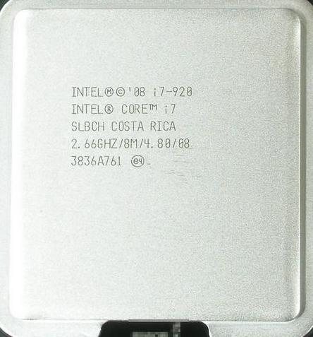 2008年11月,英特尔发布了第一个I7系列的桌面处理器