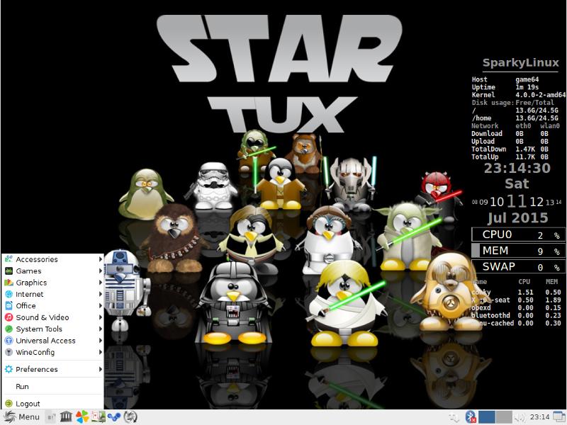 Sparky Linux GameOver-64位(游戏版)
