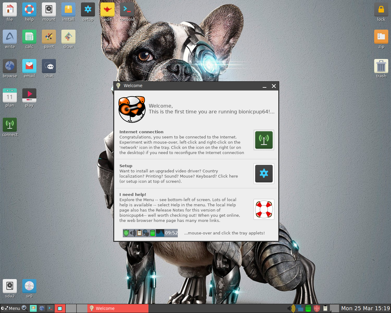 Puppy Linux 8.0 bionicpup-x32