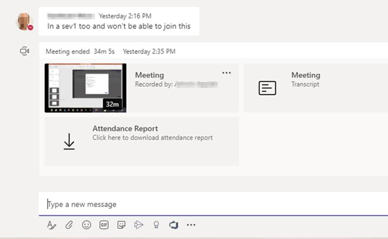 Microsoft现在允许Teams会议组织者在会议后下载参与者报告