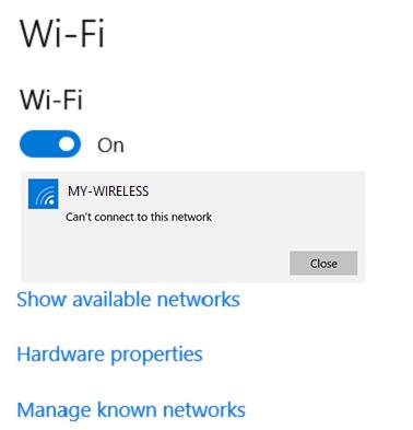 如何解决 Surface 能找到我的无线网络但无法连接