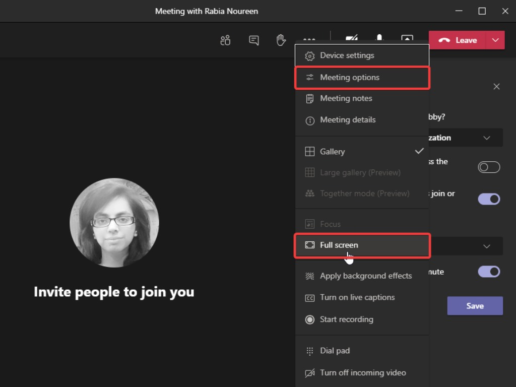 Microsoft Teams的新会议体验增加了全屏支持和会议选项