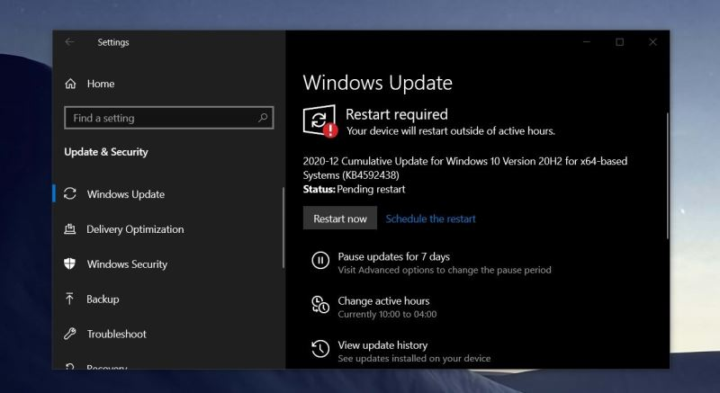 Windows 10 (consumer edition), version 20H2 (updated Dec 2020) (x64)