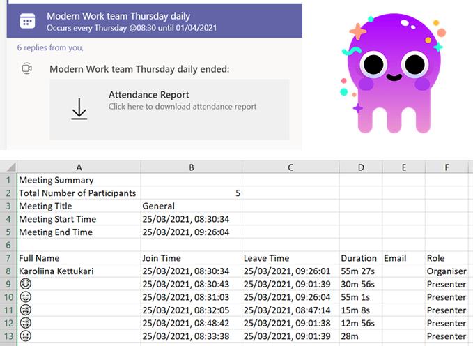 Microsoft Teams Meetings会议报告现在更加详细,更易于下载