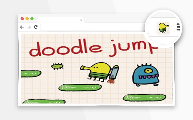 Doodle Jump game in popup browser(涂鸦跳跃)