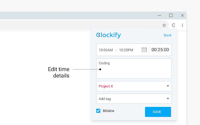 Clockify Time Tracker(网页浏览时间记录与管理)