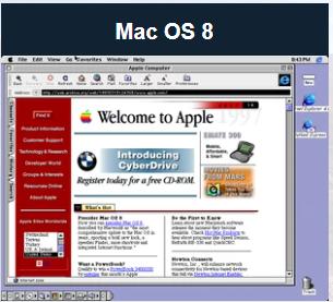 Apple于1997年推出了Mac OS 8