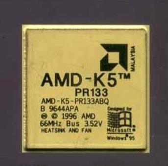 AMD1996年3月27日发布了K5处理器,这是AMD公司第一个自主开发的处理器