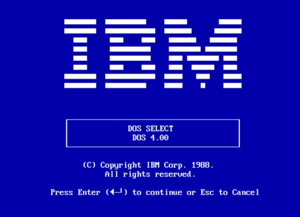微软为IBM电脑开发的PC-DOS 1.0的第一个官方版本于1981年8月发布