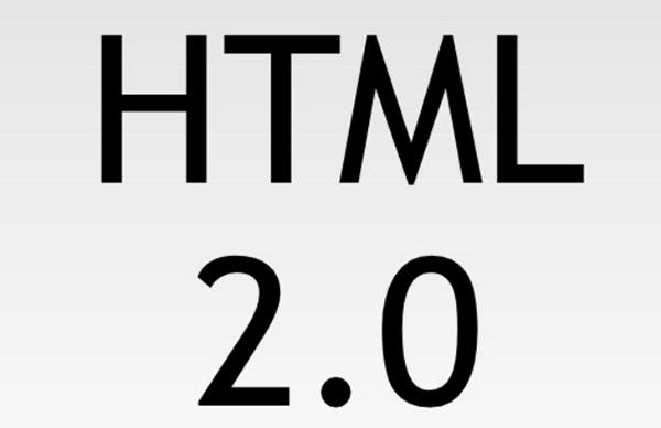 HTML 2.0于1995年11月24日发布在RFC 1866中
