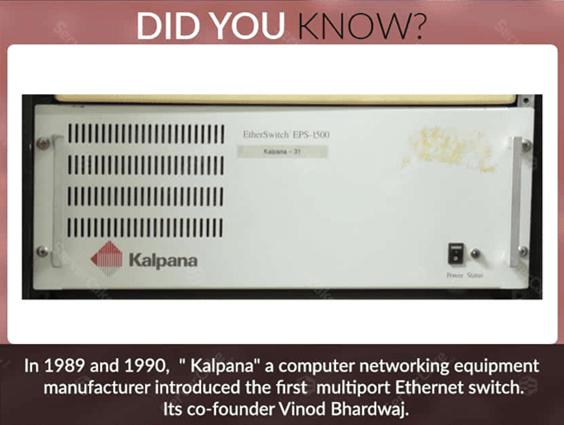 美国网络硬件公司Kalpana在1990年开发并推出了第一台网络交换机