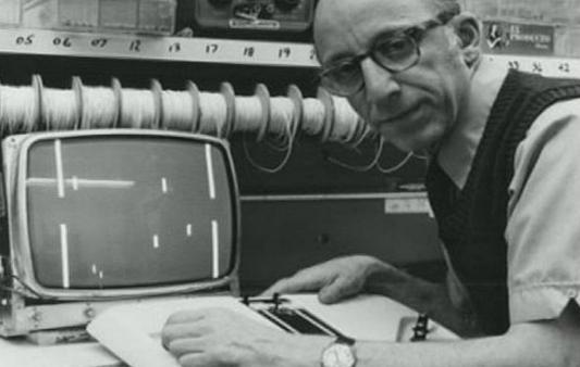 """1968年由拉尔夫·贝尔设计成的第一台游戏主机""""TV GAME UNITS""""问世"""