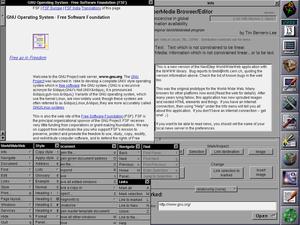 1990年蒂姆·伯纳斯-李发明了第一个网页浏览器WorldWideWeb