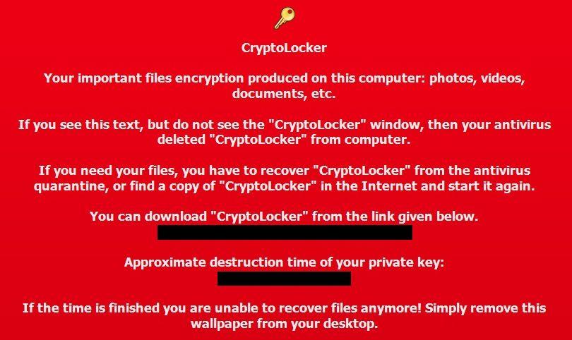 2013年9月出现了一种特洛伊木马病毒—CryptoLocker