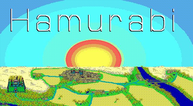1968年最早的模拟经营类游戏《Hamurabi》发行