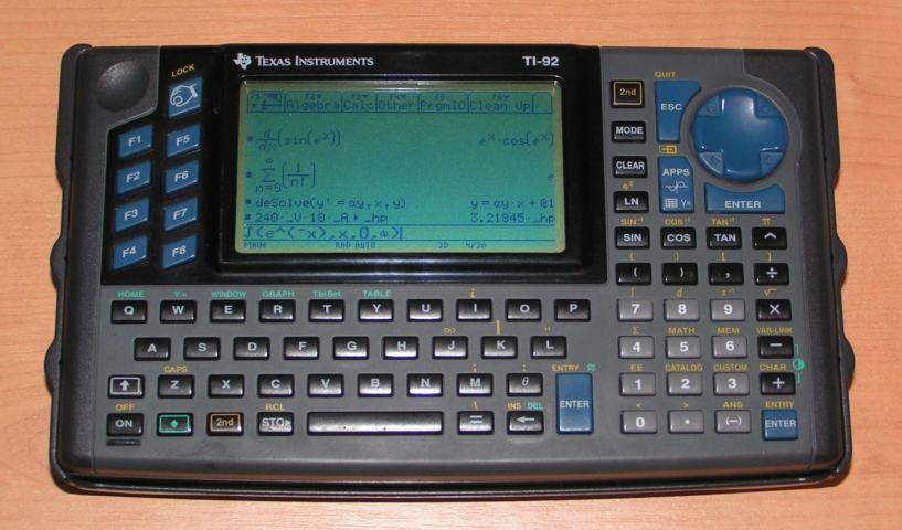 1995年德州仪器发布了TI-92图形计算器
