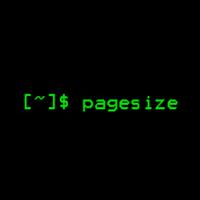 pagesize(显示以字节为单位的内存页面大小并由getpagesize返回)