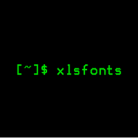 xlsfonts(显示X窗口系统可用的字体列表)