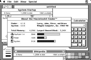 1988年4月,苹果公司推出System Software 6,是最受欢迎的麦金塔操作系统