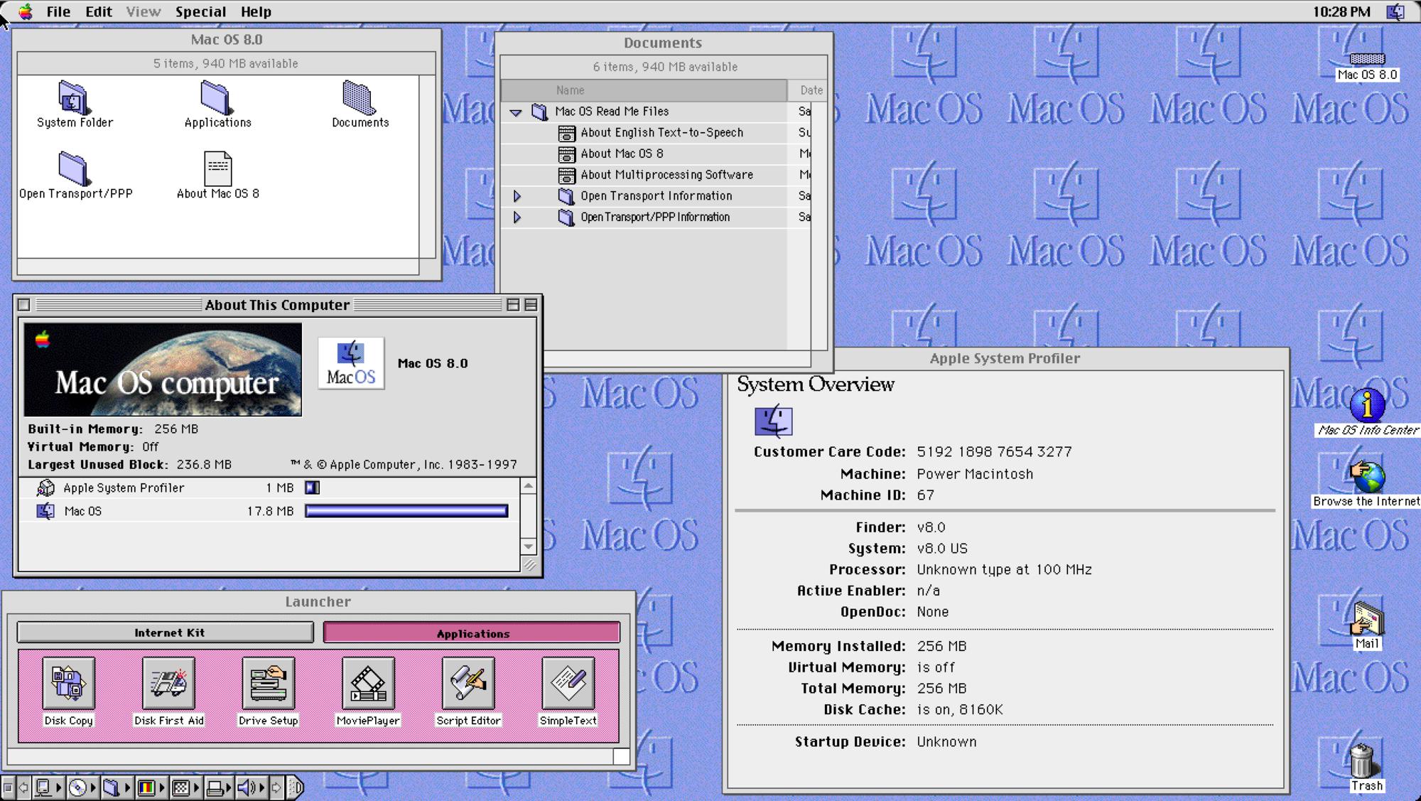 1997年7月26日,Mac OS 8.0正式发布,Mac OS的名称被正式采用