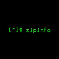 zipinfo(列出了有关ZIP存档的技术信息)