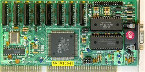 1988年,Trident 8900/9000显卡发售,使显卡独立于电脑