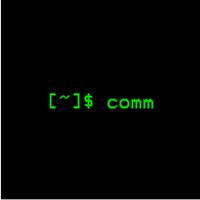 comm(逐行比较两个排序的文件)