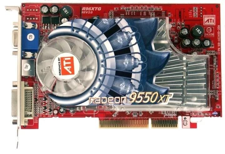 2003年,ATI最经典的显卡,Radeon 9550问世